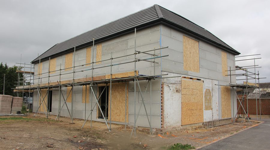 Marmox Multiboard Makes Ideal Render Backer for Surrey Conversion