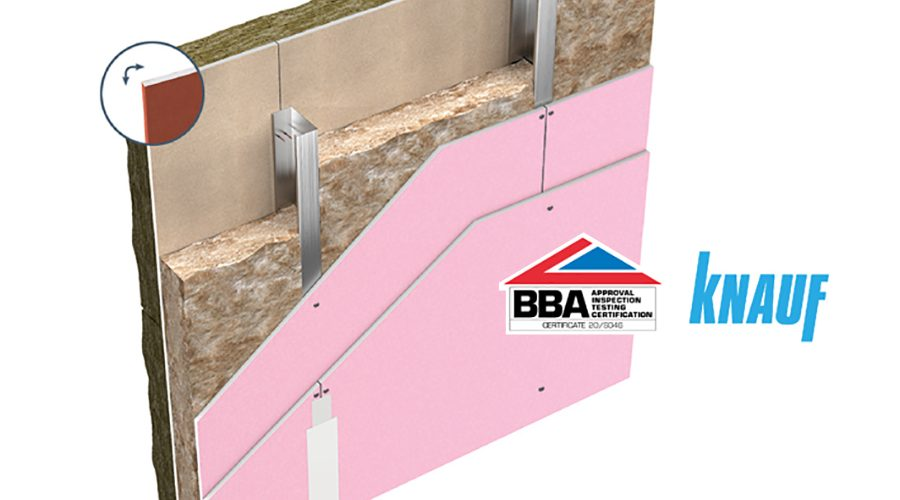 Knauf UK Awarded BBA Certificate for ThroughWall System