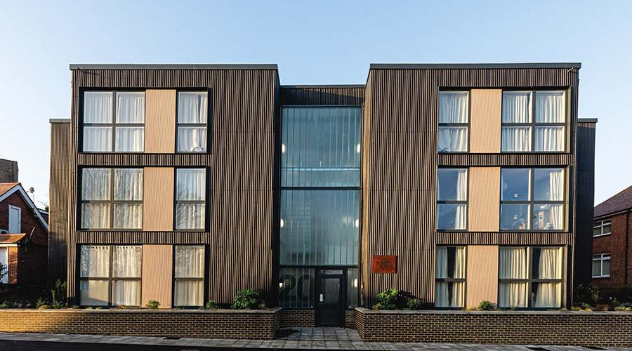 MODULAR SOCIAL HOUSING WITH A GRAND DESIGNS-STYLE AESTHETIC