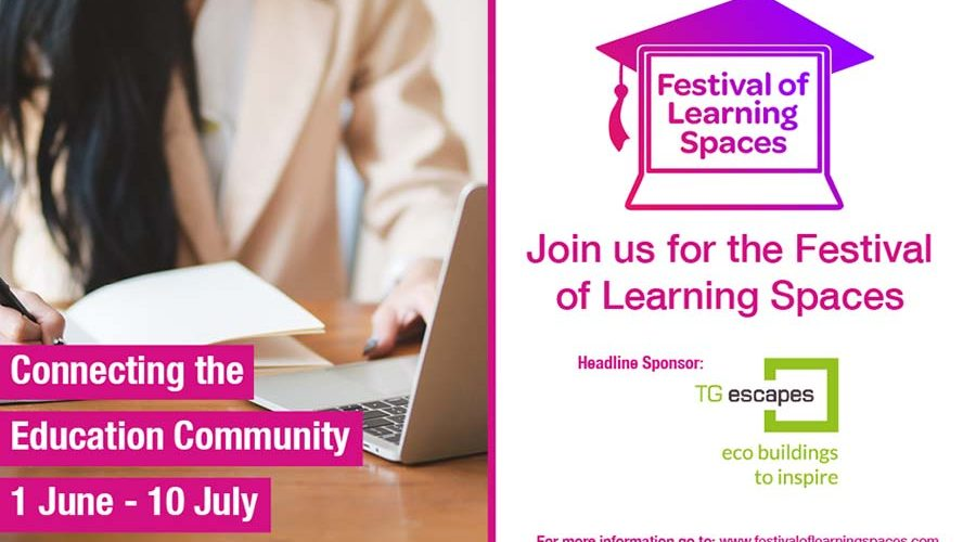 Eco Building Providers TG Escapes Support the Festival of Learning Spaces, 1st June-10th July