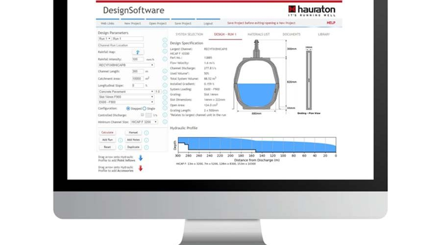 New Hydraulic Design Software for HAURATON Surface Drainage Systems