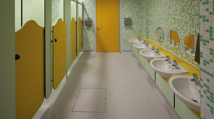 Providing first-class washroom facilities for school