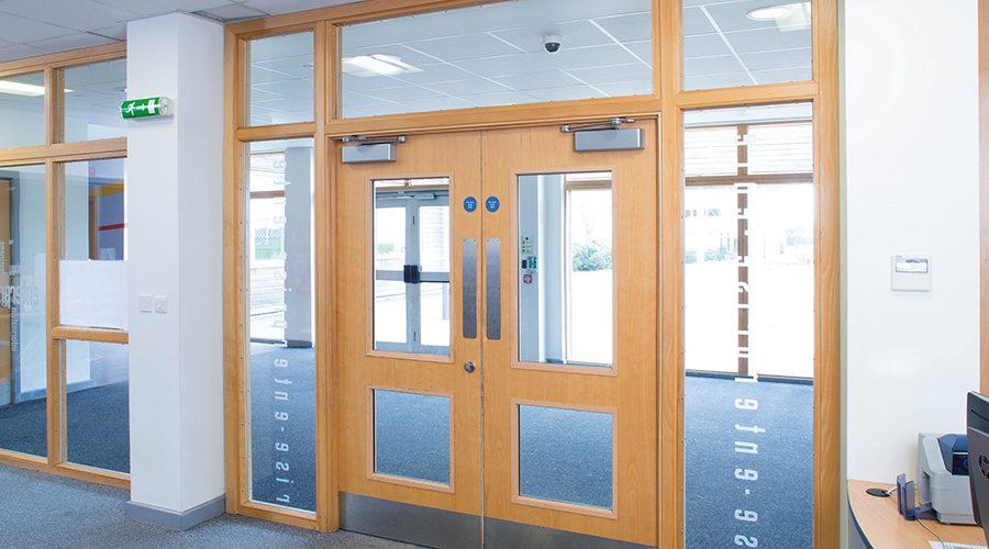 Relcross solve door closer problems at John Ferneley College