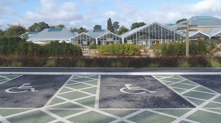 Hauraton channels drain Blue Badge scheme parking bays at RHS Wisley