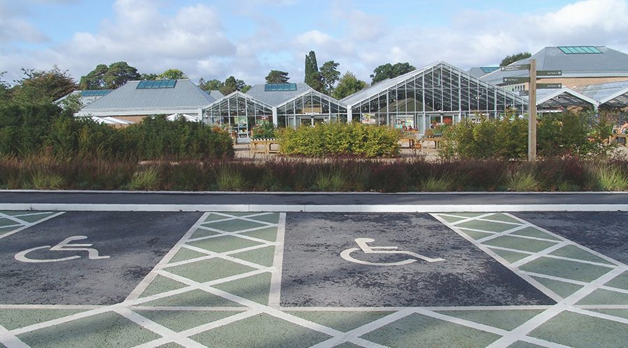 Hauraton channels drain Blue Badge scheme parking bays at RHS Wisley