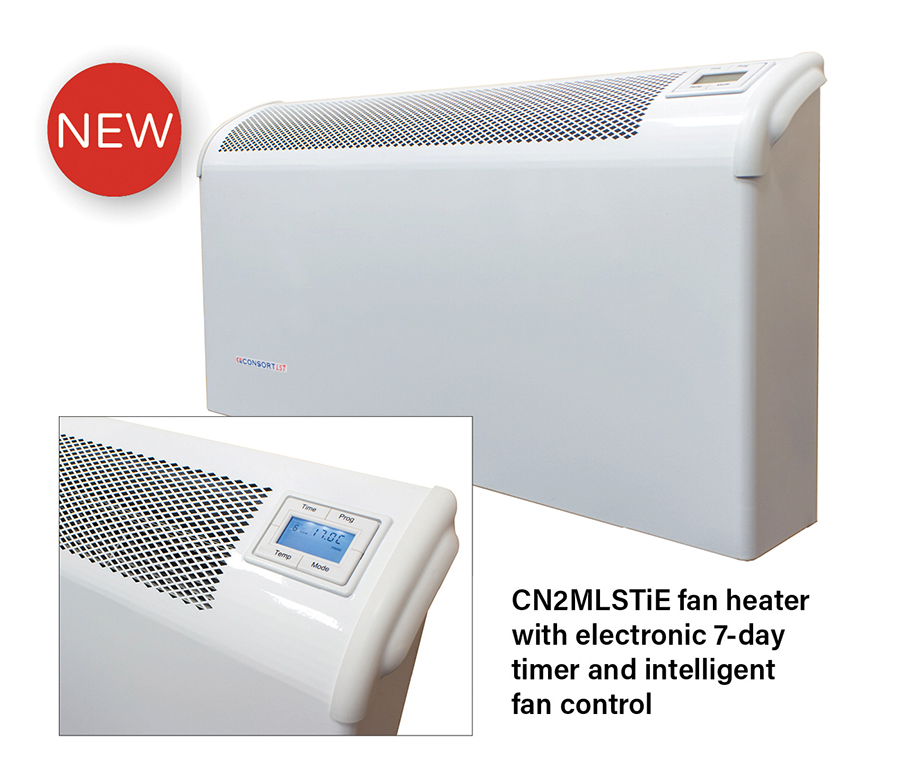 Consort Claudgen Metal Body Fan Heater