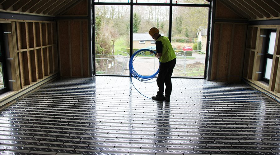 Omnie UFH to optimise air-source heat pump in Cambridge self-build