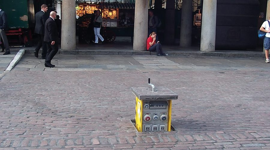 Pop Up Power Supplies specified at Covent Garden