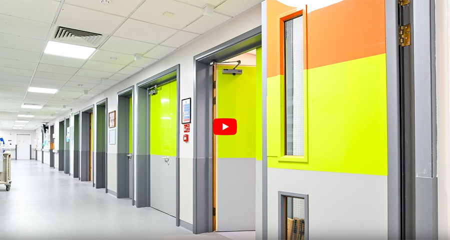 Yeoman Shield Refurbish Sheffield Hospital with Fire Rated Door Protection