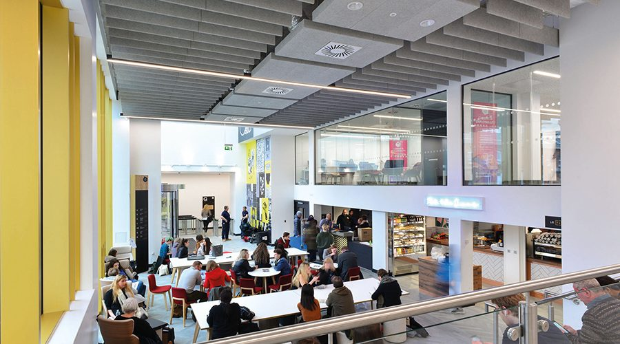 Ambitious £22m expansion at Leeds Arts University complete with Knauf AMF ceiling systems