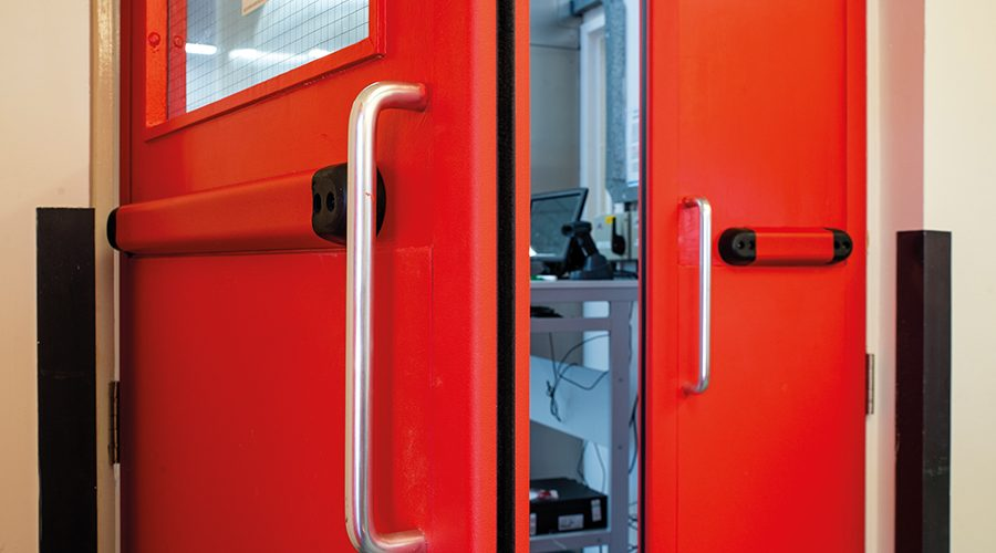 Fire doors protected by Yeoman Shield