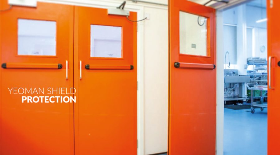 New Fire-Rated Protection by Yeoman Shield for Warwick Hospital Fire Doors